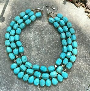 SILPADA .925 Sterling Silver Howlite Drops of Ocean 3 Strand Necklace N3023 NEW