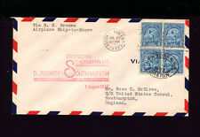 Catapult Cover 1932 USA POST Grau K118a to Southhampton Olympics franking