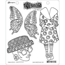 Ranger Ink Dylusions Stamps Unmounted Rubber Stamps Sunday Best dyr63223