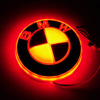 4D Car LED Logo Light Auto Badge Rear Emblems Lamp For BMW 3 5 7Series X3 X5 X6