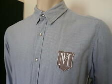 MOSSIMO Men's Long Sleeved Stylish Slim Fit Shirt - Pin Check - Sz XL