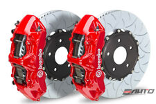 Brembo Front GT Big Brake 6P Caliper Red 350x34 Type3 Slot Rotor Lancer EVO X 10