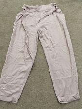 NEW LOOK Beige half elasticated waist loose trousers - Size 14