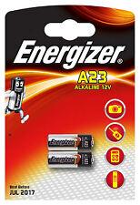 2x Energizer A23 12V Alkaline Battery MS21, RVO8, VR22, MN21, 23A