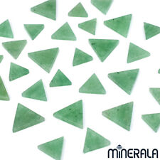 [WHOLESALE] NATURAL GREEN AVENTURINE LOOSE GEMSTONE FLAT TOP TRIANGLE SHAPE