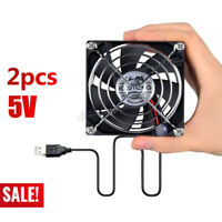 2020 2x USB Cooling Fan Silent Fan For Computer Case PC CPU Case 5V