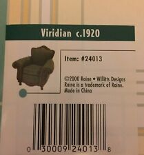 Miniature Chair-Raines-Willitts-Vir idian C. 1920 -Take a Seat-Box