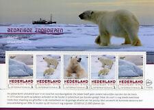 Netherlands 2017 MNH Polar Bears Bear Endangered Wild Animals 5v M/S Stamps