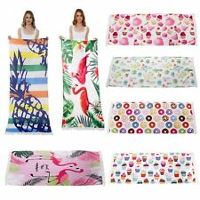 Beach Towel Rectangle Cotton Bath Towel Large Short Fringe Boho Beach Mat Towel