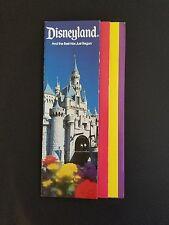 Vtg Disney Ephemera 1984 Disneyland Souvenir Guide Map 30th Birthday Celebration