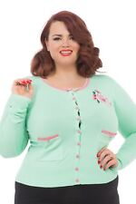 Voodoo Vixen Green & Pink Floral Cardigan. Plus Size 4XL. New With Tags.