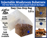 One-Step Mushroom Grow Bag | 1.5 lb Direct From Injection Mushroom Substrate