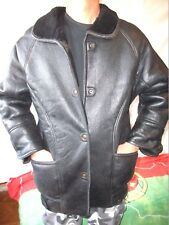 MANTEAU 100¨% FOURRURE MOUTON T-38/40 veste CUIR/leather jacket vintage