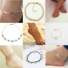 Gold anklet Cross Crystal boho Indian Bollywood Payal Multi chain adjustable