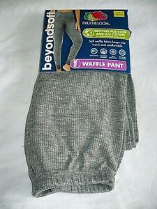Fruit Of The Loom Beyond Soft Thermal Waffle Pants 2XL (20) Gray Smoke NEW