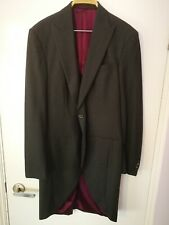 Mens 42L 100% Wool GREY Tailcoat Wedding Ascot Morning Suit Dress Tails Jacket