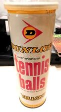 "8"" Tall Vintage Dunlop Championship 3 Tennis Balls Can & Balls - Made England"