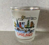 Chicago Illinois Skyline Shot Glass frosted