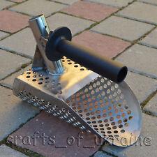 Beach Sand Scoop with Extra Handle Metal Detecting Tool Genuine Stainless Steel