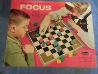 vintage 1965 focus board game easy as checkers challenging as chess family game