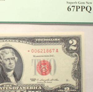 1963* STAR $2 PCGS 67 PPQ SUPERB GEM Legal Tender Note Fr. 1513  High Grade