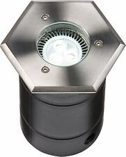 Knightsbridge GU10 LED Modern Outdoor Garden Hexagonal Recessed Decking Light
