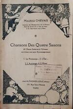 """CHANSONS DES QUATRE SAISONS """"L'AUTOMNE"""" (3) par M. CHEVAIS. Chants scolaires."""