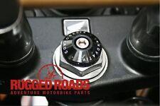 Cubierta de Volante Tallo Y Horquilla precarga adjustors-Negro y Plateado-CRF1000