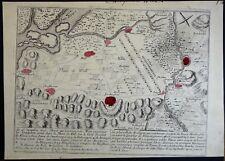 Nicolas de Fer Plan gravé Plan des troupes de Louis XIV Endigen Kenzigen 1691
