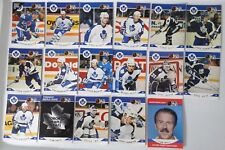 1990-91 Pro Set Series 2 Toronto Maple Leafs Team Set of 17 Hockey Cards