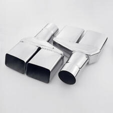 """Pair Quad Square Outlet 2.5"""" in Exhaust Tips For 1970-1974 Dodge Challenger"""