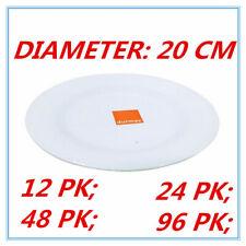 20cm Melamine Round Plate Birthday Wedding Party Dinner White Cafe Snack Dish FD