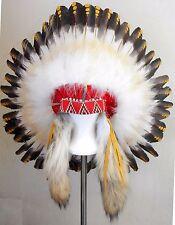 "Genuine Native American Navajo Indian Headdress 36"" diameter 1875 REPLICA"