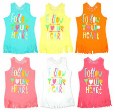 Girls' Multi-Coloured Vest T-Shirts & Tops (2-16 Years)