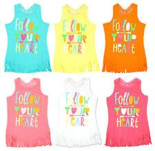 Girls' Multi-Coloured Sleeveless Vest T-Shirts & Tops (2-16 Years)
