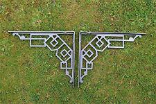 Un paio di grandi dimensioni in ghisa Art Deco Mensola STAFFE STAFFA GEOMETRIC Design