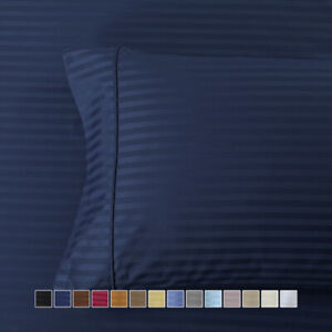 2X Silky Soft 600 Thread Count Striped 100% Long Staple Pure Cotton Sateen Weave