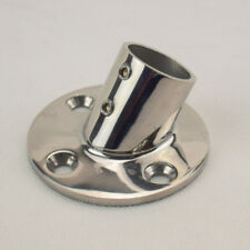 """Single 316 Stainless Steel Hand Rail Fittings 60 Degree 1"""" Round Base Deck"""