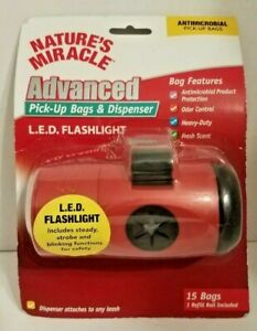 Dog Poop Pick Up Bag Dispenser w/Bags And LED Flashlight - Be Prepared