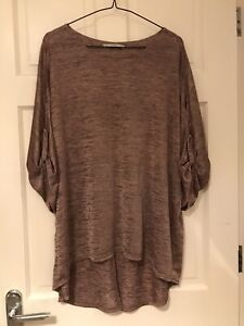 Ladies George Cold Shoulder Shimmer Tunic Size 12