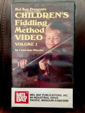 Rare Vhs Tape: Mel Bay Children's Fiddling Method Carol Ann Wheeler Violin  00006000 Learn