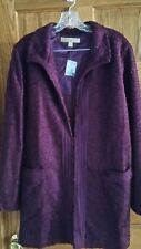 Motto Elegant Semi-Fitted Novelty Fully Lined Jacket Solid XL Eggplant  A210433