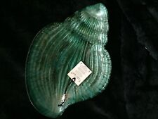 AKCAM Shell Shaped Decorative Dish Plate Bowl Aqua Teal Green Free Shipping