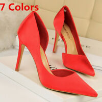 Women's Classic Pumps Cut Out Pointed Toe Stiletto High Heel Party Sandals Shoes