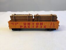 TYCO 341-B Open Gondola car w/ real wood load UNION PACIFIC 41' HO train 2923