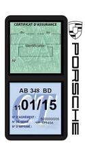 Porte vignette assurance PORSCHE double étui voiture Stickers auto rétro