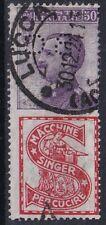 """1924 REGNO D' ITALIA PUBBLICITARI NR.16 PERFIN """"BCI"""" USATO"""