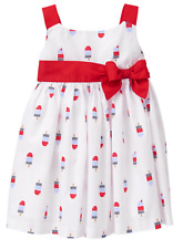 NWT Gymboree Little Girls 3-6 Month Red White Blue Popsicle Dress Star Spangled