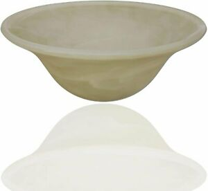 Floor Lamp Shade Globe Replacement - Alabaster Swirl Glass Bowl Shade by...