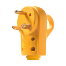 125V 30Amp RV Replacement Male Plug Yellow Grip Handle Heavy Duty f RV Camper